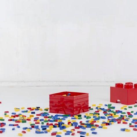 Brique de rangement empilable - Lego