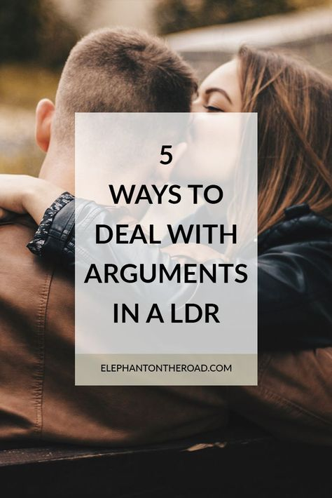 how to deal with arguments in a relationship
