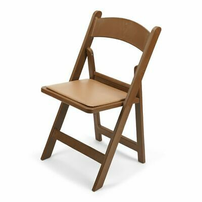 Details About 10 Pack Light Brown Resin Wedding Folding Chair With Beige Vinyl Padded Seat With Images Folding Chair Wood Folding Chair Chair