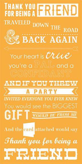 Printable Golden Girls Lyrics Digital Poster by BallyhooDesign