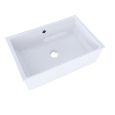 Toto Vernica Design I Vitreous China Rectangular Undermount Bathroom Sink With Overflow Sink Undermount Bathroom Sink Bathroom Sink Design