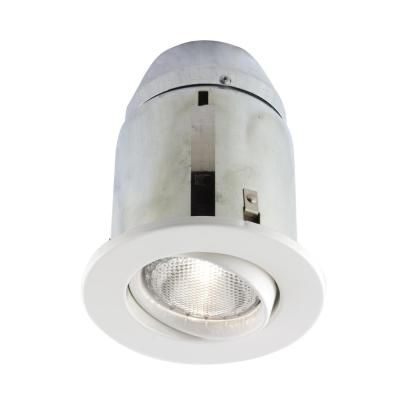 Bazz 900 Series 5 In White Recessed Halogen Light Fixture Kit