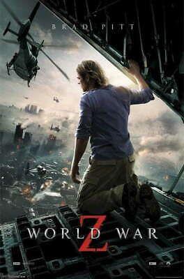 315520 World War Z City On Fire Movie Brad Pitt Zombie Wall Print Poster Ebay Fire Movie Best Zombie Movies Brad Pitt