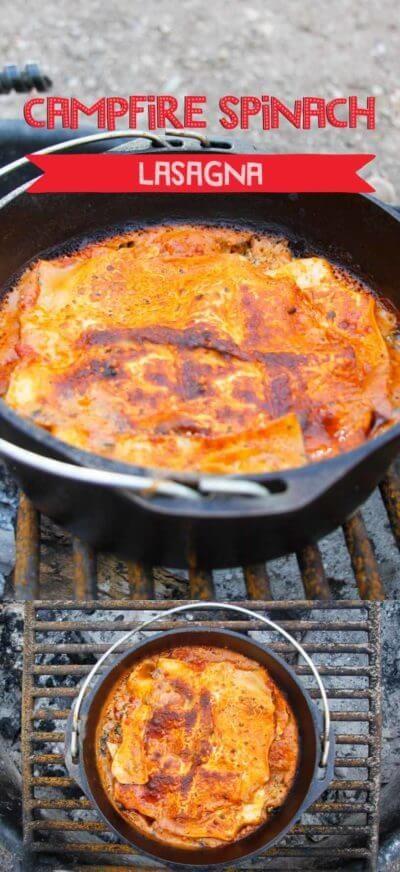 Campfire Vegetarian Lasagna Recipe Vegetarian Camping Recipes Dutch Oven Recipes Vegetarian Camping