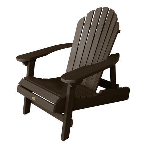 Hamilton Folding Reclining Adirondack Chair Weathered Acorn