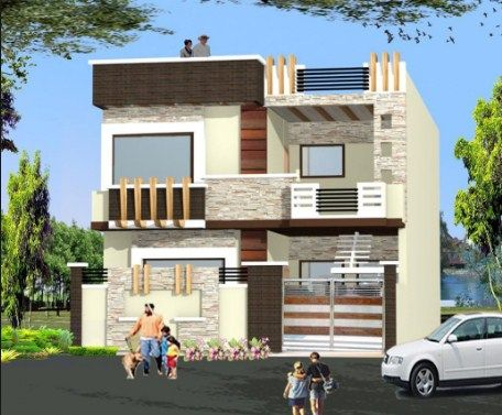 Contemporary House Elevation Modern Designs For House India Front Elevation Designs Independent House Small House Elevation