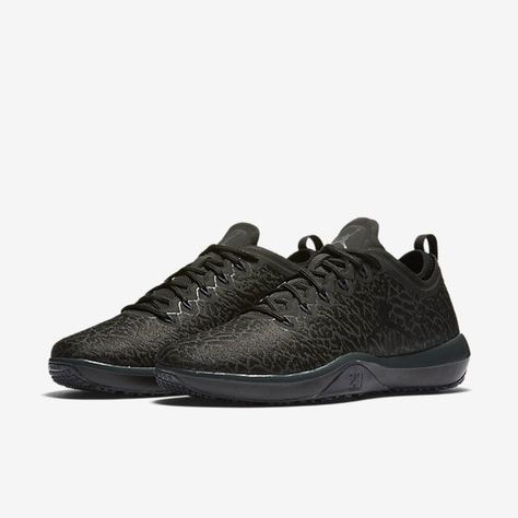 b95524d9f403ee Nike JORDAN Trainer 1 Low Mens Shoes 10.5 Triple Black Anthracite 845403 002   Nike  RunningCrossTraining