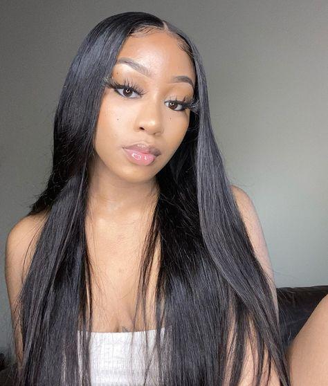"Asteria Hair 24""-40"" Super Long Straight Hair Lace Wigs For African American Women 100% Virgin Brazilian Human Hair Lace Front Wigs 13x4 Lace Frontal Wig"