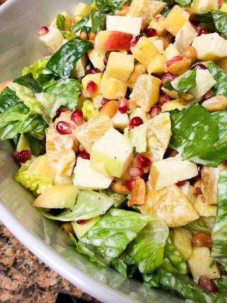 Salads For Christmas.Fast Fresh Easy Mexican Christmas Eve Salad