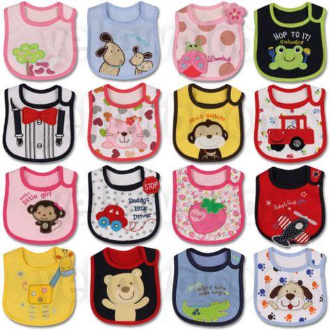 1 X Cotton Bibs Baby Boys Girls Waterproof Saliva Burp Apron for Kids  Ec