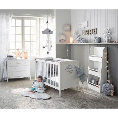 2 étagères murales en bois blanches H 30 et H 35 cm SONGE | Maisons du Monde