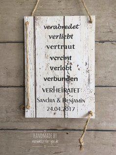 Liebes Brautpaar Mit Personlichen Namen Maxi Holzschilder Weihnachten Spruch Und Vintage Banner