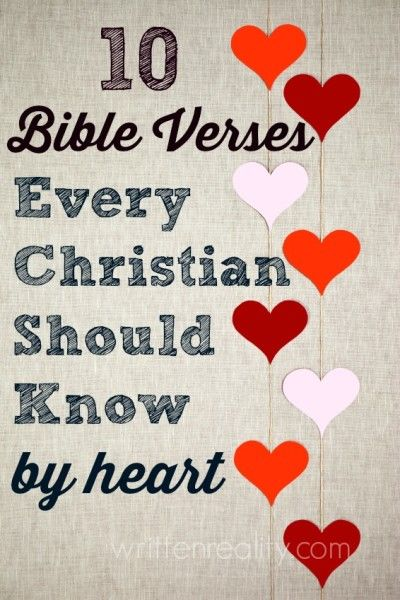 Memory Verses: 10 Bible Verses Every Christian Should Know by Heart Memory Verses: Looking for a great place to start memorizing Scripture? Here are 10 Bible Verses Every Christian Should Know by Heart My Bible, Bible Scriptures, Bible Quotes, Scripture Verses, Bible Prayers, Deliverance Prayers, Quotes Quotes, Healing Scriptures, Heart Quotes