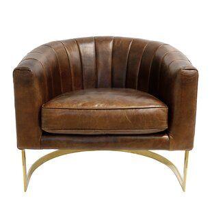 Foundstone Analise Barrel Chair Wayfair Barrel Chair Leather Chair Chair