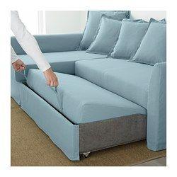 Holmsund Sleeper Sectional 3 Seat Orrsta Light Blue Divano Angolare Ikea Soggiorno Ikea Divano Letto