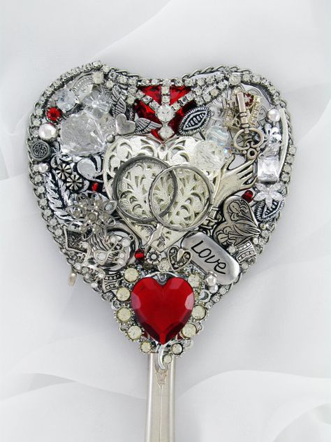 Hand Mirror Recycled Vow of Love Repurposed by MarilyndaGallery, $50.00