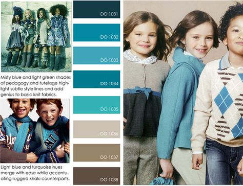 love the blues w/the brown. contemporary market fall winter f/w 2012 2013, color trends, prep detail