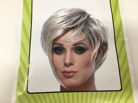 Wig Halloween Women s Punk Short Pixie Grey Gray Twiggy Retro 60 s  fashion   clothing  shoes  accessories  costumesreenactmenttheater  accessories  ad  (ebay ... 207a0636d2