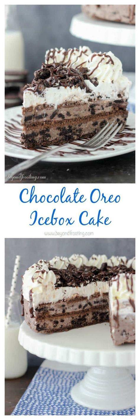 Chocolate Oreo Icebox Cake Recipe   Beyond Frosting