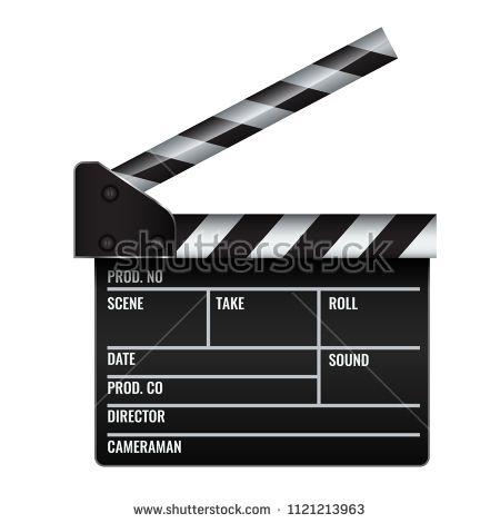 Opened Realistic Cinema Or Film Clapper Illustrated Vector Cinema Film Film Cinema