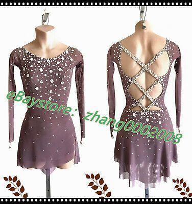 Ice Figure Skating Dress //Rhythmic Gymnastics Costume//Twirling Tap Dance Leotard