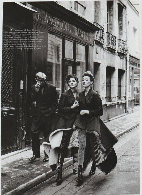 Helena Christensen,Sofi in Montmartre 1991 by Peter Lindberg