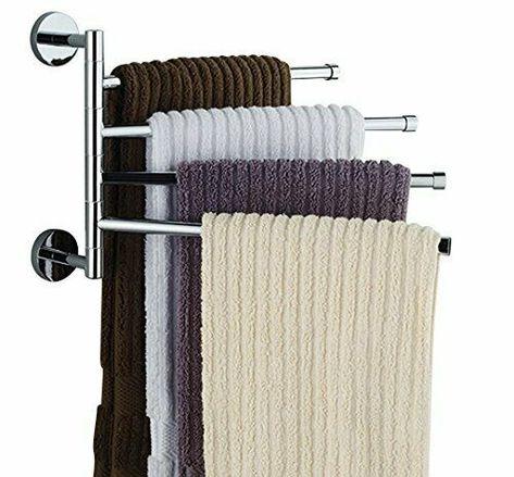 16 Inch Wall Mounted Stainless Steel Swivel Bars Bathroom Towel Rack Hanger Ebay Towel Rack Towel Rack Bathroom Bathroom Towels