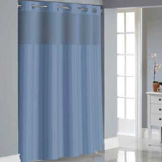 Hookless Satin Stripe Shower Curtain Liner Kohls Striped Shower Curtains Shower Curtains Walmart Curtains