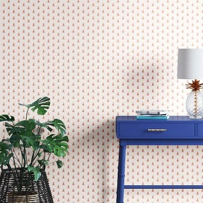 Find Product Information Ratings And Reviews For Mini Pineapple Peel Stick Removable Wallpaper Metallic Copper Removable Wallpaper Decor Neutral Furniture