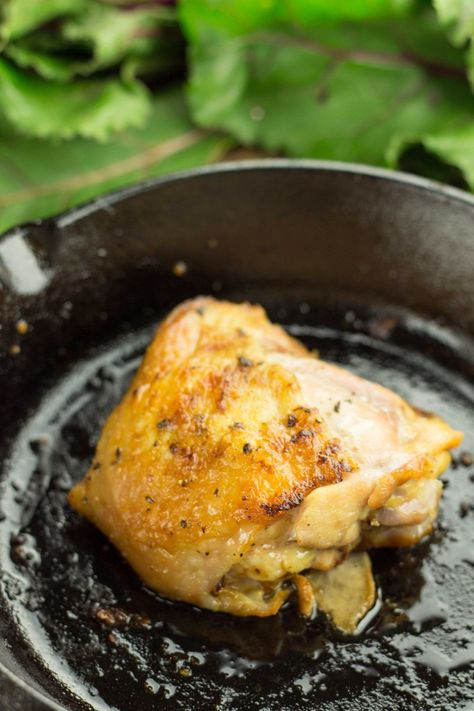 Cast Iron Coconut Roasted Chicken Thighs