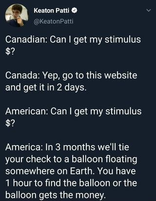 Canadian Can I Get My Stimulus Canada Yep Go To This Website And Get It In