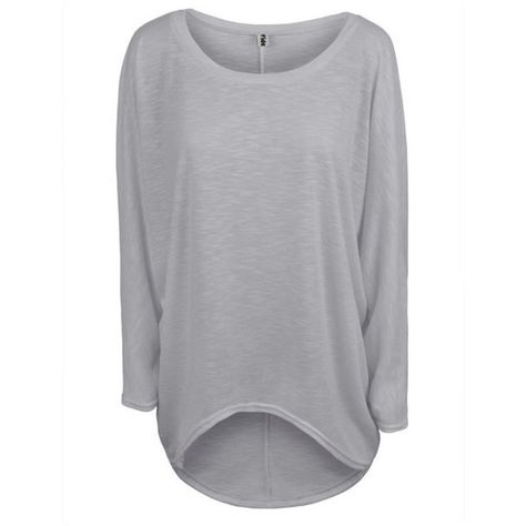 3cbca1fe9be73 Women s Oversized Baggy Off-Shoulder Long Sleeve Top (£16) ❤ liked on  Polyvore featuring tops