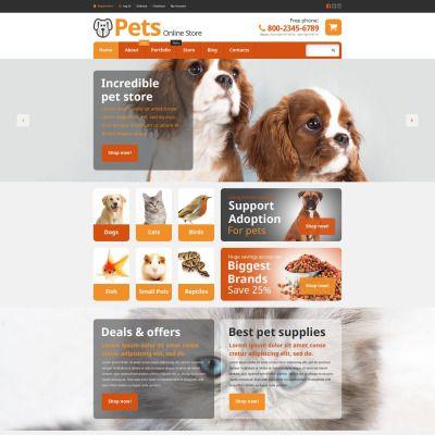 Pets Online Store Woocommerce Theme Pet Store Pets Online Online Pet Store