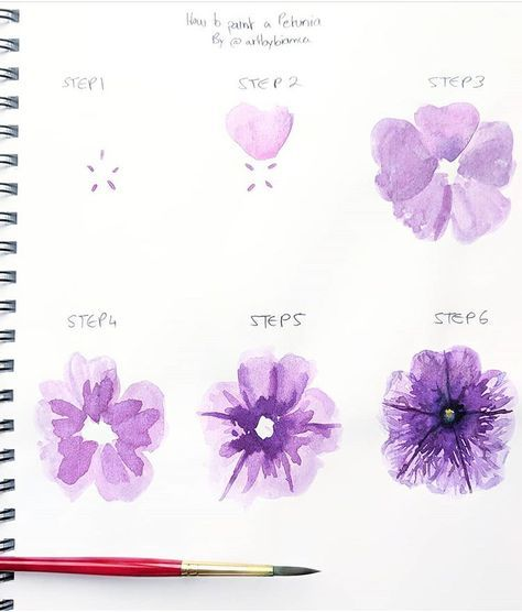 Flowers Watercolor Step By Step Watercolour 59 Ideas Watercolor