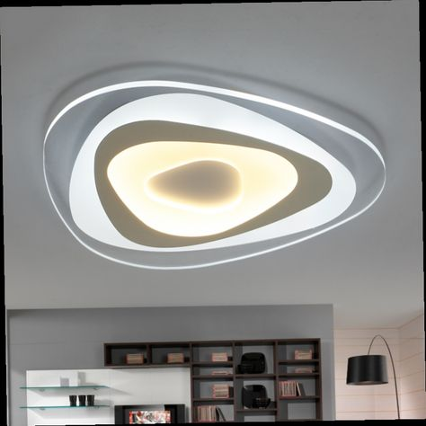 New square rings designer Modern led ceiling lights for living - deckenleuchten led küche