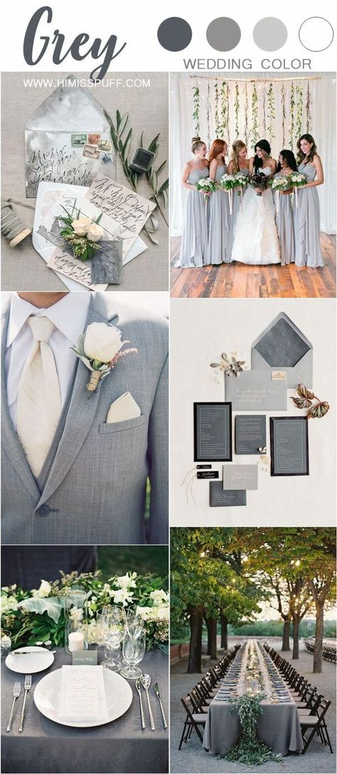 Gray wedding color ideas #wedding #weddings #weddingideas #weddingblog #weddingcolors #himisspuff