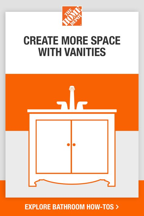 Use our design guide to elevate your bathroom space and create a new feel. Learn how mirrors can make your bathroom feel more spacious. Utilize your space fully with different types of vanities. Find the right lights to make your bathroom brighter and more inviting. Tap to learn more with this design guide from The Home Depot.