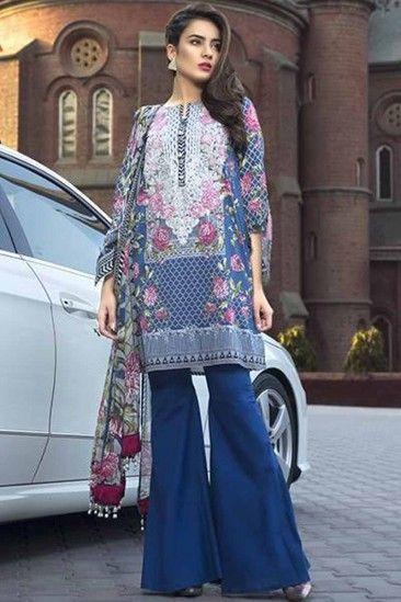 Lady Dwiza Costume de salwar indien brod/é en satin Georgette et super filet Lehenga et Churidar pour femme