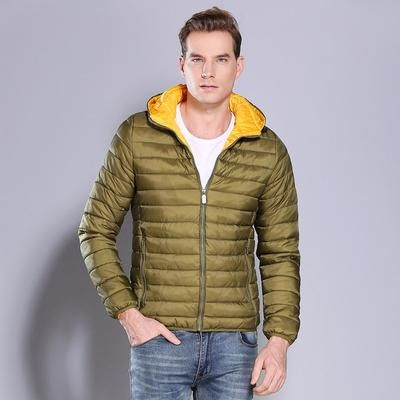 Men/'s Winter Casual Puffer Parka Cotton Paded Quilted Hoodie Hooded Jacket Coat