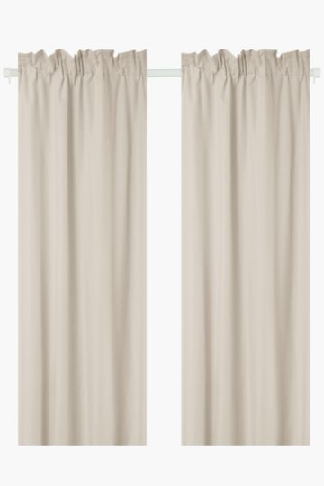 2 Pack Microfibre Taped Curtain 150x218cm Curtains Curtains