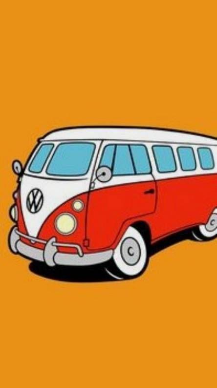 Campervan Vw Art Retro Cars Art Wallpaper