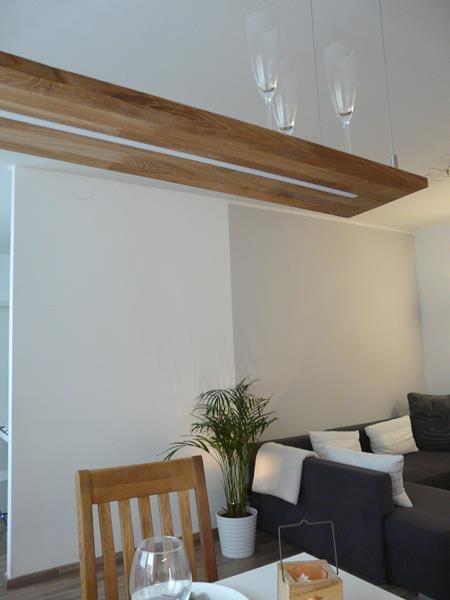 Details Zu Hangelampe Leuchte Holz Eiche Natur Geolt 80 Cm Mit Fernbedienung Haus Deko Lampen Eiche Natur