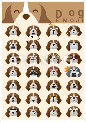 Dog Emoji Icons Clip Art Download Now 65257399