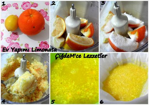 1 Portakal 1 Limon İle 3 Litre Limonata Yapalım