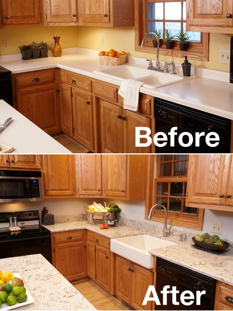Is an apron-front sink right for you? Check out these before and after pics of KOHLER's Whitehaven apron-front sink