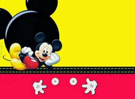 Invitaciones De Mickey Mouse Tarjetas De Cumpleaños