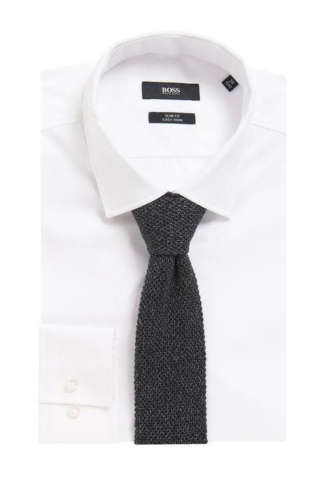 41a21250cb0c7 Cravate tricotée réversible en laine mélangée Gris sombre de BOSS pour  Hommes pour 105