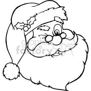 Outline Of Santa S Face Papa Noel Dibujo Cara De Papa Noel Papa Noel Para Pintar
