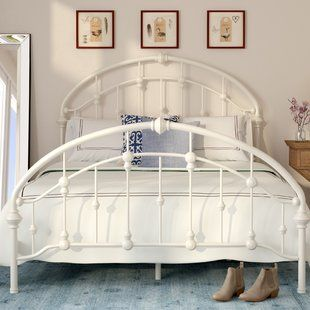 Wrought Iron Beds Birch Lane Panel Bed Bed Sizes Bed