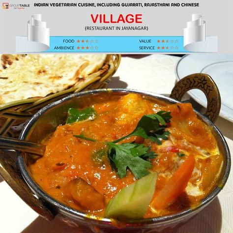 Village Soul Of India Restaurant In Jayanagar The Restaurant Has A Different Concept Where You Pay For The Buffet Before Vegetarian Cuisine Food Food Value